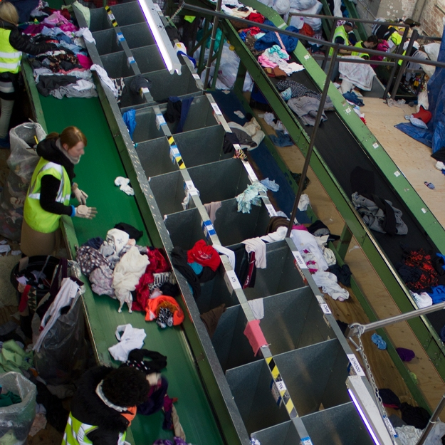 The sorting bins at BTRC